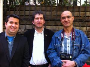 Amb el crític i escriptor Ricard Ruiz Garzón i en Joan-Lluís Lluís